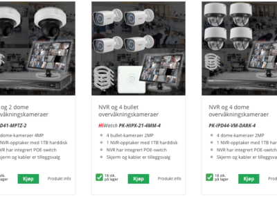Woocommerce produktutlisting design