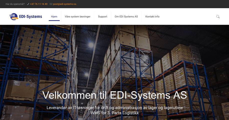 Gratulerer med ny hjemmeside til EDI Systems AS
